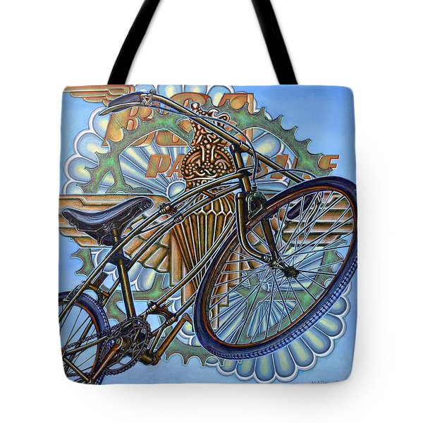 Tote Bag featuring the painting Bsa Parabike by Mark Howard Jones