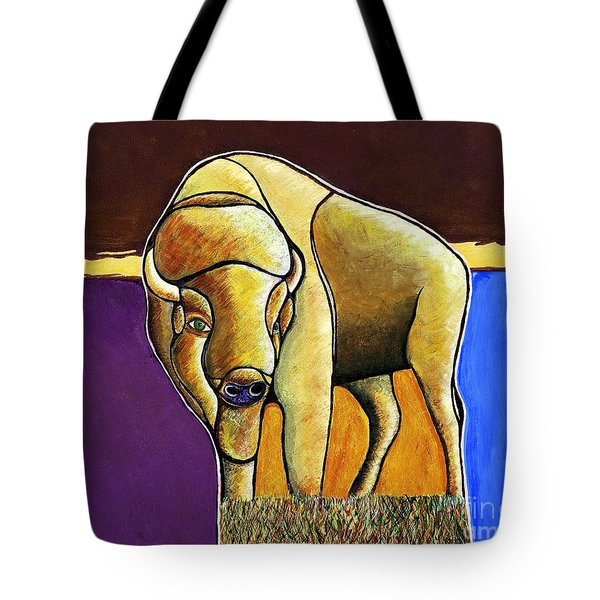 Tote Bag featuring the painting Buffalo 1 by Joseph J Stevens