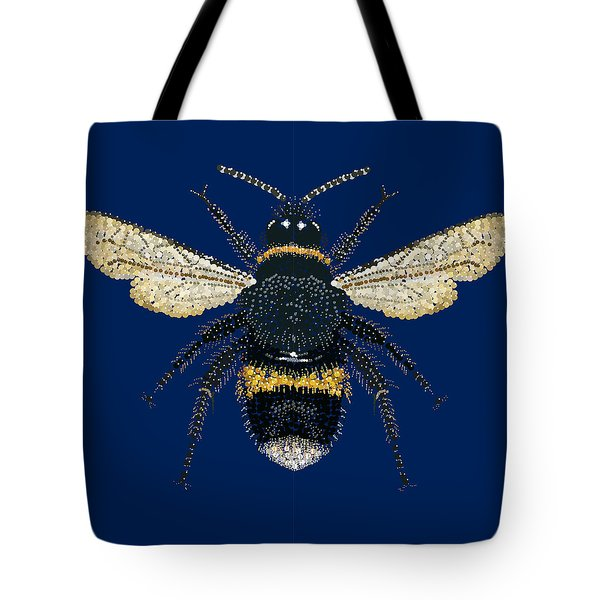 Bumblebee Bedazzled Tote Bag