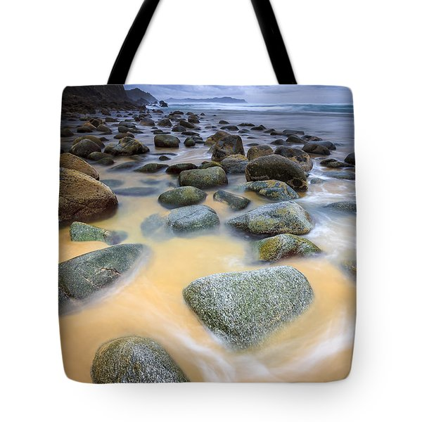 Tote Bag featuring the photograph Campelo Beach Galicia Spain by Pablo Avanzini