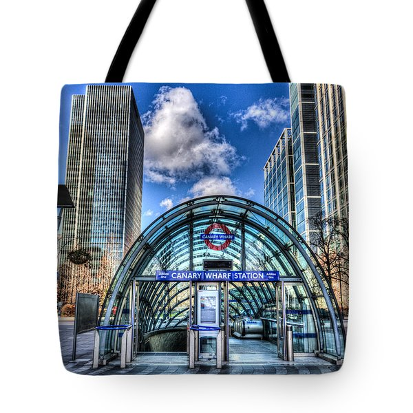 Canary Wharf Tote Bag by David Pyatt