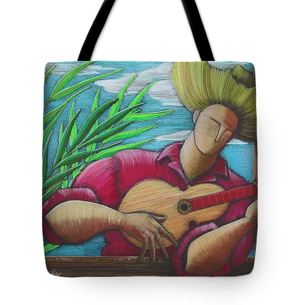 Tote Bag featuring the painting Cancion Para Mi Tierra by Oscar Ortiz