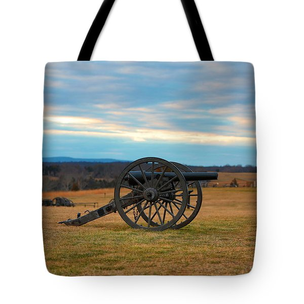 Cannons Of Manassas Battlefield Tote Bag