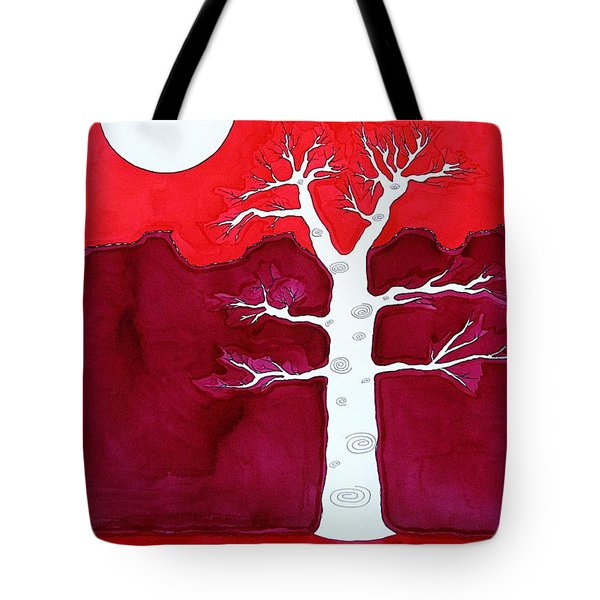 Canyon Tree Original Painting Tote Bag