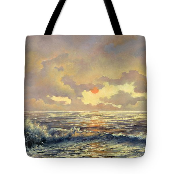 Tote Bag featuring the painting Cappuccino Bay by Lynne Wright
