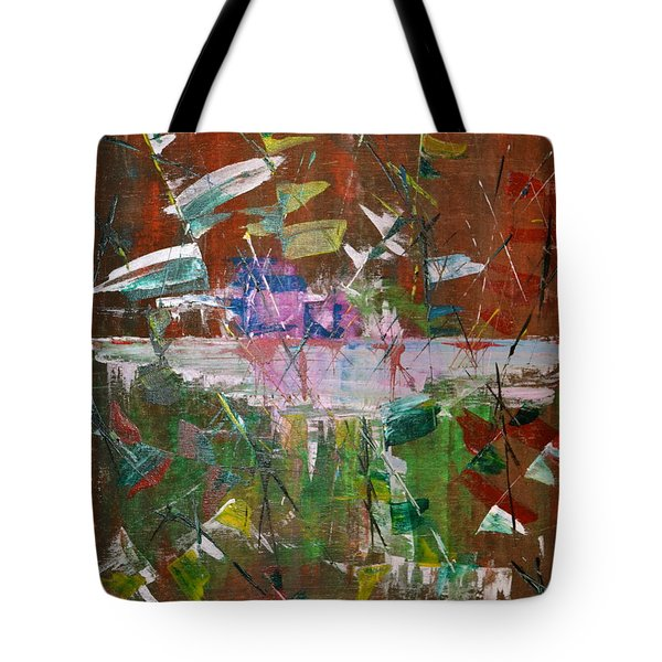 Tote Bag featuring the painting Capture The Flag by Denise Tomasura
