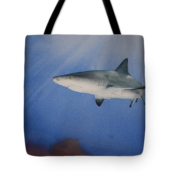 Caribbean Reef Shark 1 Tote Bag by Jeff Lucas