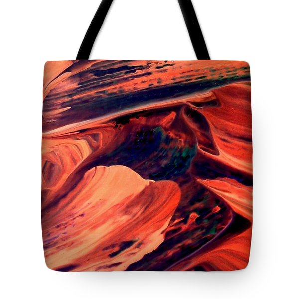 Tote Bag featuring the painting Catalyst by Jacqueline McReynolds