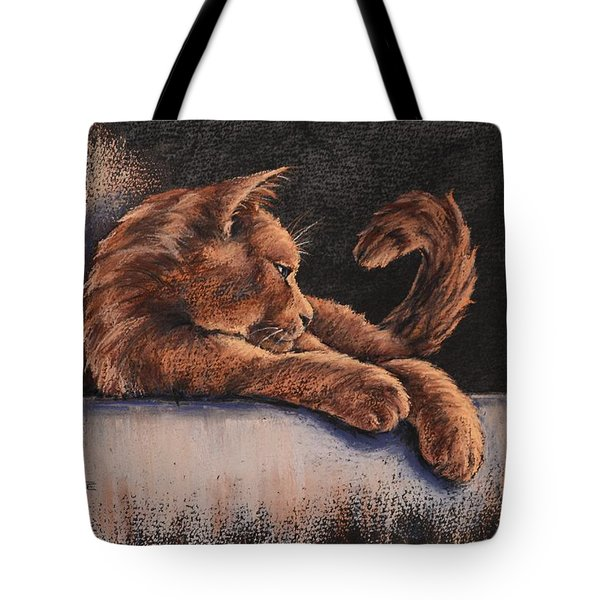 Tote Bag featuring the painting Catching The Last Rays by Cynthia House