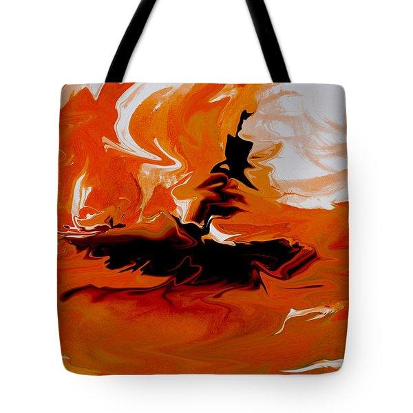 Caught In The Storm Tote Bag by Indira Mukherji