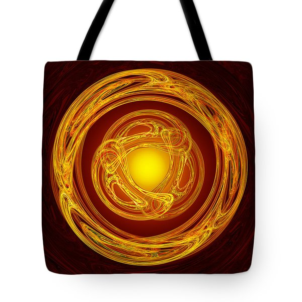 Celtic Abstract On Red Tote Bag by Jane McIlroy