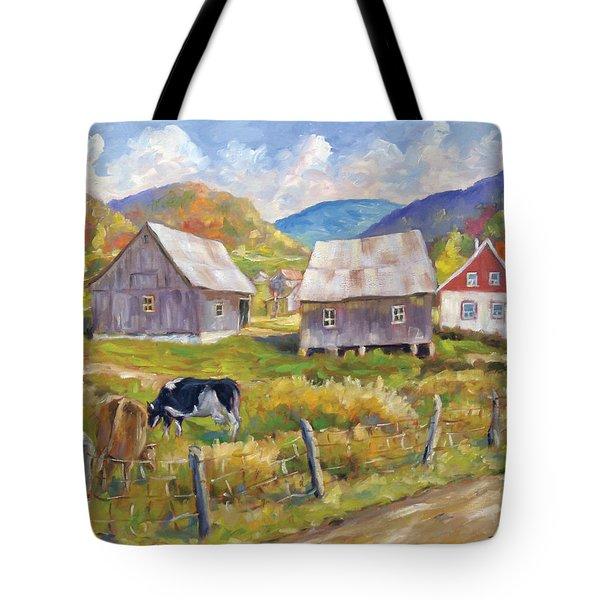 Charlevoix North Tote Bag by Richard T Pranke