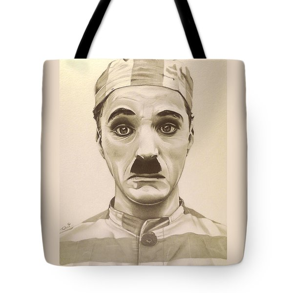Vintage Charlie Chaplin Tote Bag by Fred Larucci