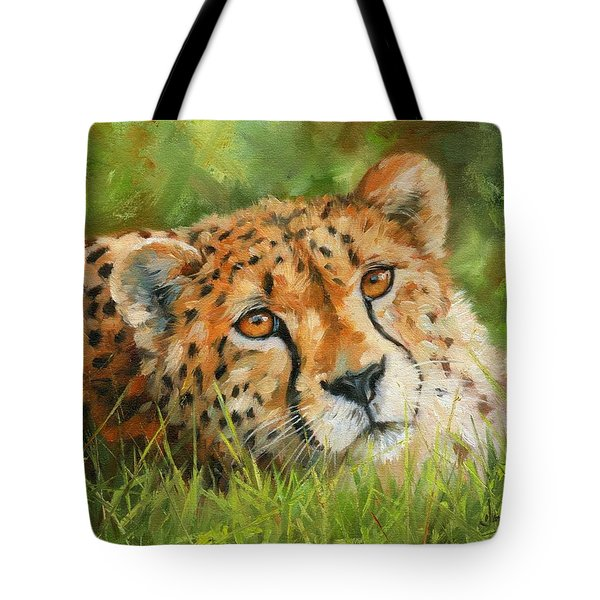 Cheetah Tote Bag by David Stribbling
