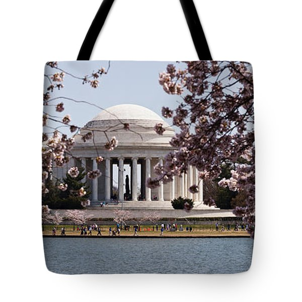 Cherry Blossom Trees In The Tidal Basin Tote Bag by Panoramic Images