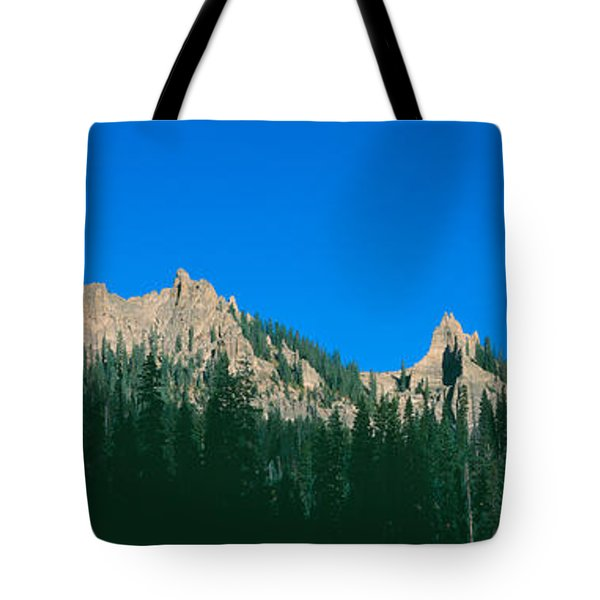 Chimney Peak In Uncompahgre National Tote Bag