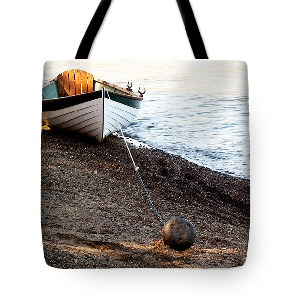 China Beach Rowboat Tote Bag by Roselynne Broussard