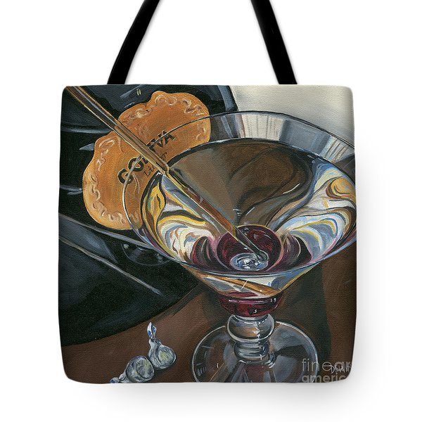 Chocolate Martini Tote Bag by Debbie DeWitt