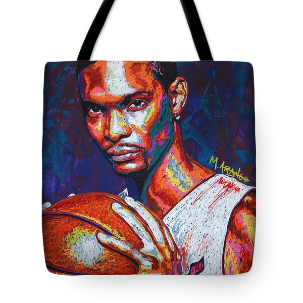 Chris Bosh Tote Bag by Maria Arango