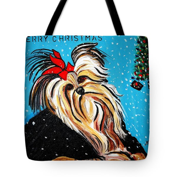 Tote Bag featuring the painting Christmas Card by Nora Shepley