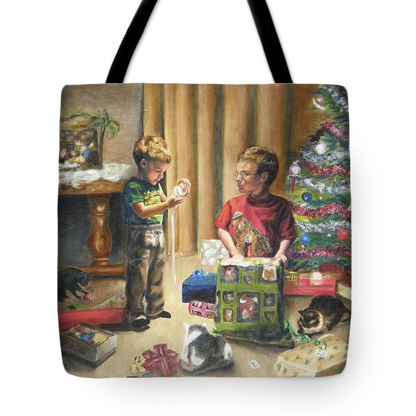 Tote Bag featuring the painting Christmas Time by Lori Brackett