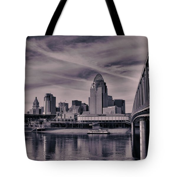 Tote Bag featuring the photograph Cincinnati by Ron Pate