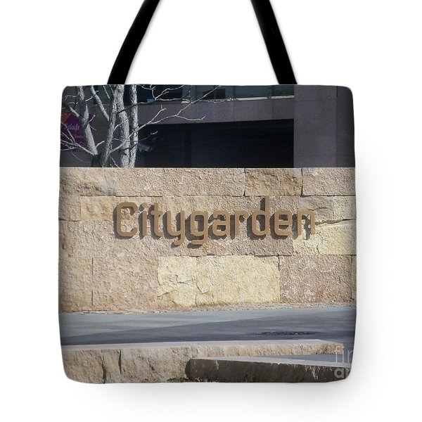 Tote Bag featuring the photograph City Garden by Kelly Awad