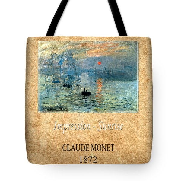 Claude Monet 2 Tote Bag by Andrew Fare