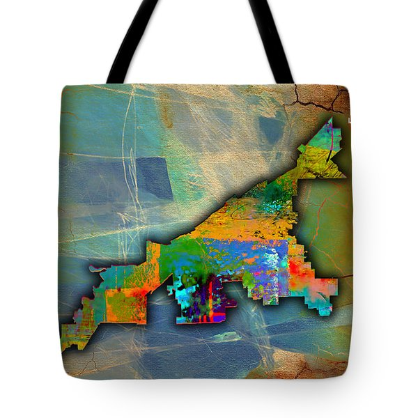 Cleveland Map Watercolor Tote Bag