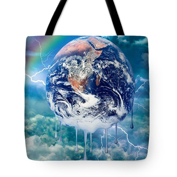 Climate Change Tote Bag by Robert Orinski