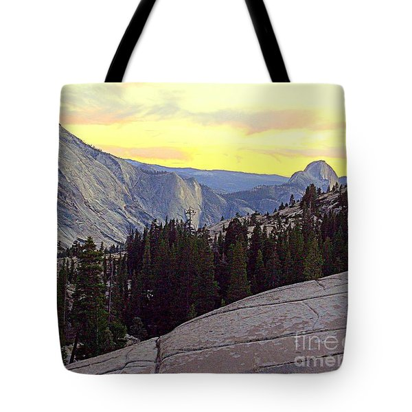 Cloud's Rest And Half Dome Tote Bag