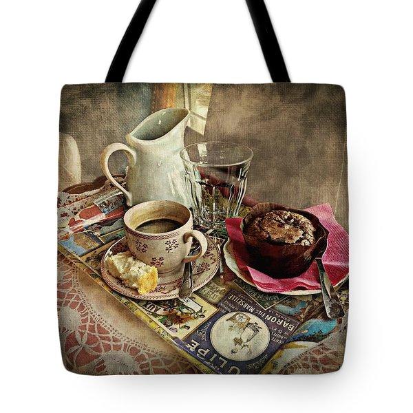 Coffee Time Tote Bag by Barbara Orenya