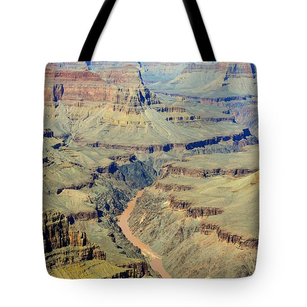Colorado River Flowing Red Through Inner Gorge Grand Canyon National Park Tote Bag by Shawn O'Brien