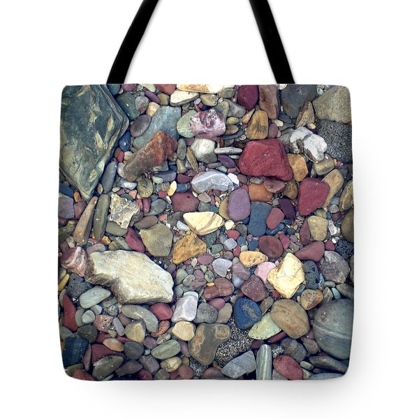 Colorful Lake Rocks Tote Bag