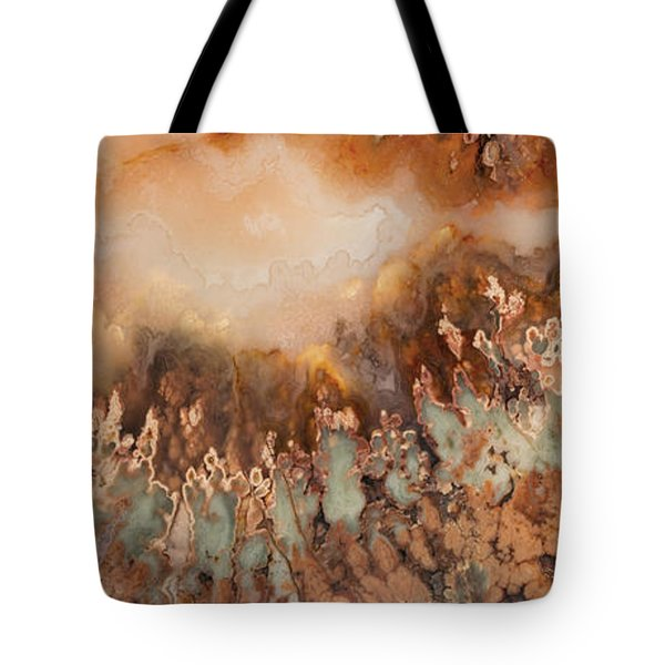 Colorful Plume Agate Tote Bag by Leland D Howard