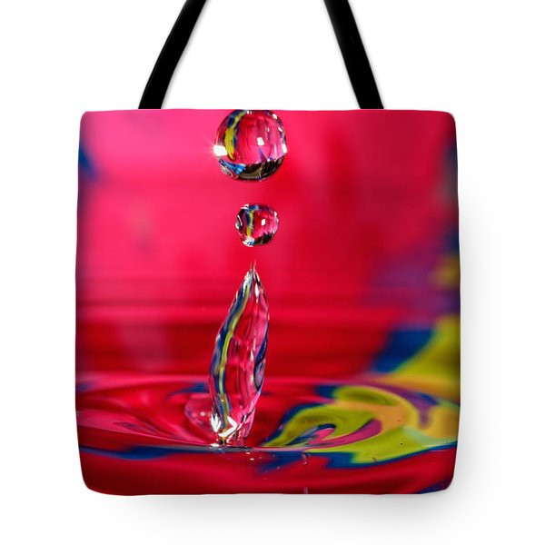 Tote Bag featuring the photograph Colorful Water Drop by Peter Lakomy
