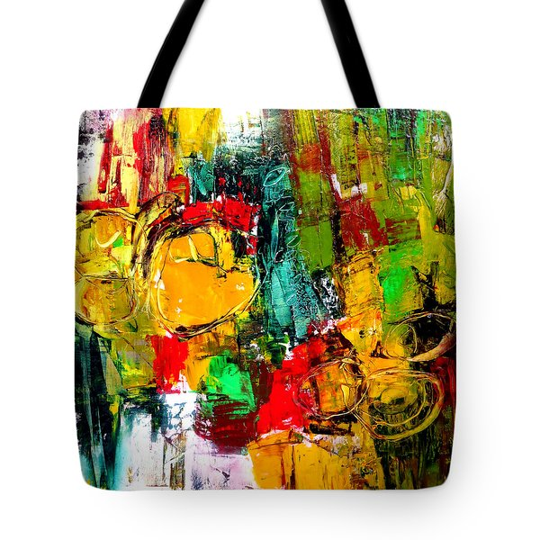 Tote Bag featuring the painting Connected by Katie Black