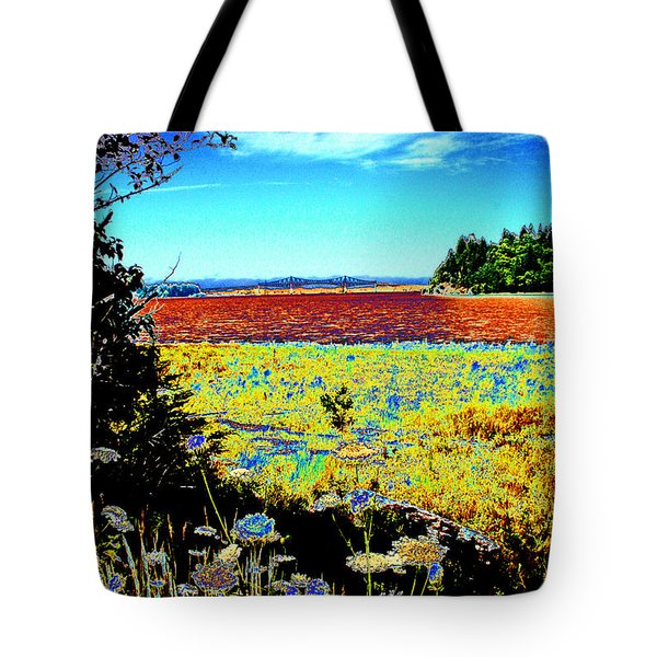 Coos Bay Wild Flowers Tote Bag