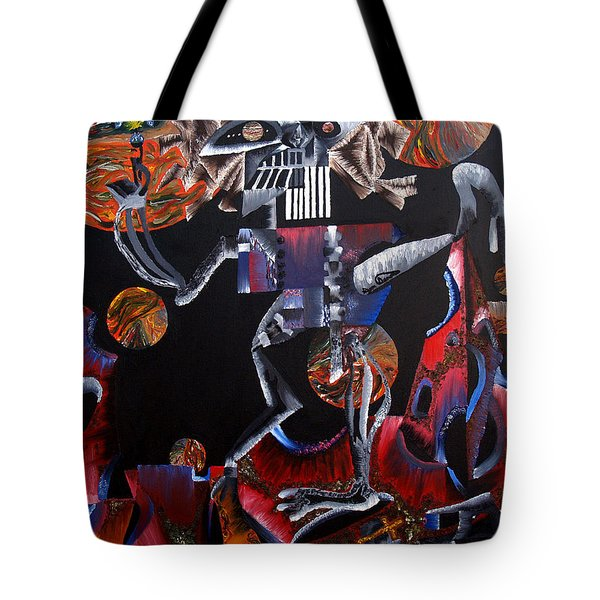 Tote Bag featuring the painting Copernicasso by Ryan Demaree