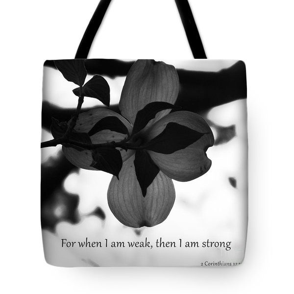 2 Corinthians 12 Tote Bag by Andrea Anderegg