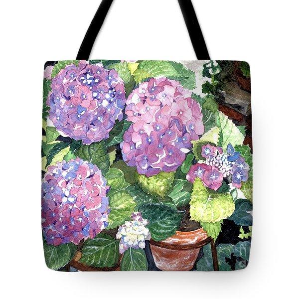 Corner Garden Tote Bag by Barbara Jewell