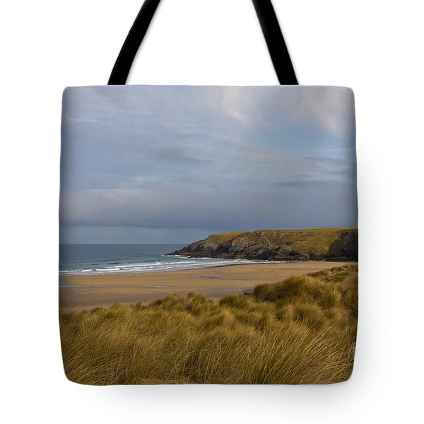 Cornish Seascape Holywell Bay Tote Bag by Brian Roscorla
