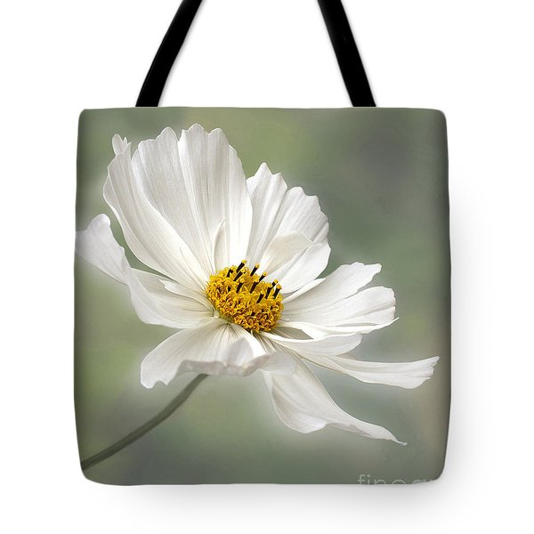 Cosmos Flower In White Tote Bag