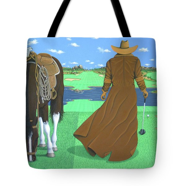 Cowboy Caddy Tote Bag by Lance Headlee