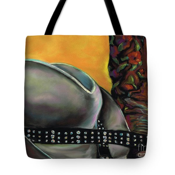 Cowgirl Necessities Tote Bag by Frances Marino