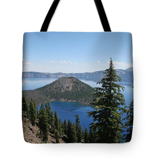 Crater Lake Oregon Tote Bag by Tom Janca