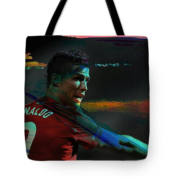 Cristiano Ronaldo Tote Bag by Marvin Blaine