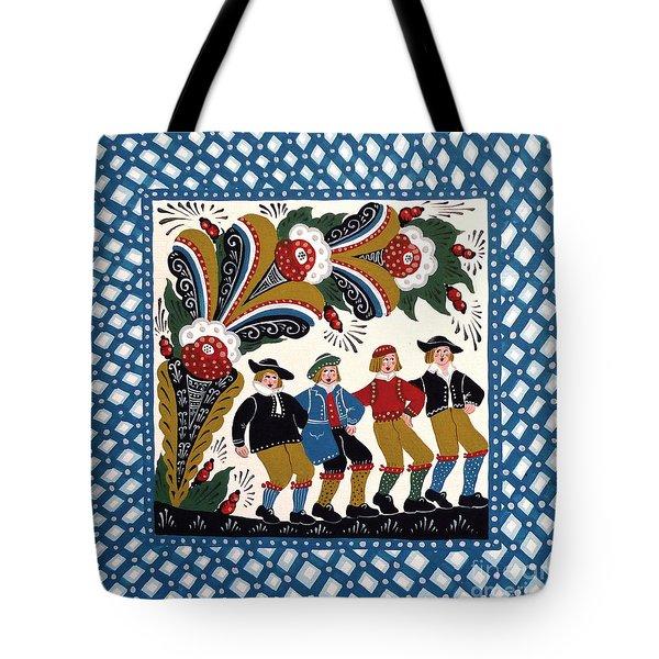 Dancing Men  Tote Bag by Leif Sodergren