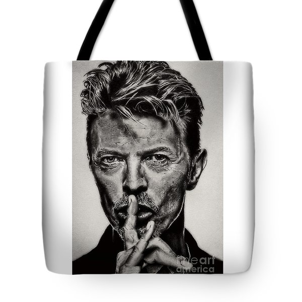David Bowie - Pencil Abstract Tote Bag