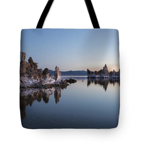 Dawn On Mono Lake Tote Bag by Sandra Bronstein